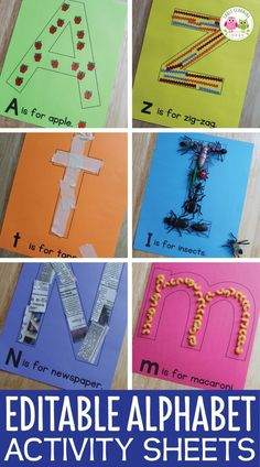 Alphabet Activities Letter Collage Sheets Editable ABC Activity Pages is part of Alphabet activities kindergarten - sound as Alphabet Activities Kindergarten, Toddler Learning Activities, Preschool Learning Activities, Preschool Letters, Preschool Lessons, Preschool Crafts, Motor Activities, Preschool Activity Sheets, Teaching Letters