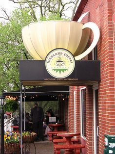 cool storefront!  Highland Coffee, Louisville, Kentucky
