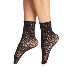 Wolford Small Lace Anklet Socks ($30) ❤ liked on Polyvore featuring intimates, hosiery, socks, apparel & accessories, black, lace socks, lace hosiery, lacy socks, lace anklets and wolford