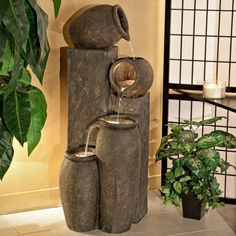 Alpine Four-Pitcher Pouring Indoor/Outdoor Water Fountain - Fountains at Hayneedle