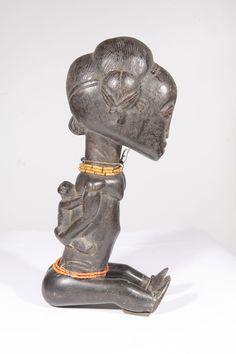 Statue africaine fetiche maternité Baoule de Cote d Ivoire 10-612