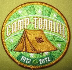 Girl Scout South East Florida 100th Anniversary Camp-Tennial patch. Seek and ye shall locate.