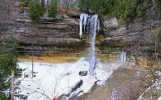Munising falls, UP, Michigan