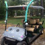 Alien themed golf car at Lake Rudolph.