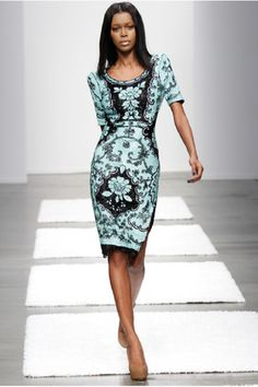 Leila Shams Spring 2013 Needlepoint Pencil Dress
