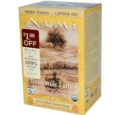 Numi Tea Chamomile Lemon Herbal Tea (6x18 Bag)