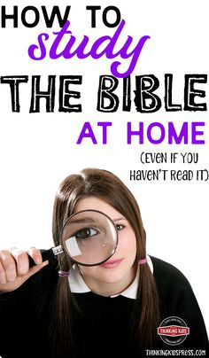 How to study the Bible at Home  Do you know how to study the Bible at home -- even if you haven't read it? It's not hard to get started studying the Bible as a family! Parenting Articles, Parenting Books, Parenting 101, Lessons For Kids, Bible Lessons, Family Bible Study, Christian Parenting, Studying, Kids Board