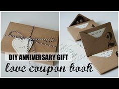 DIY Accordion Envelope Book, Anniversary Love Coupons, My Crafts and DIY Projects Envelope Book, Diy Envelope, Coupons For Boyfriend, Diy Gifts For Boyfriend, Gift Coupons, Love Coupons, Monthsary Gift For Boyfriend, Envelopes, Valentine's Day Diy
