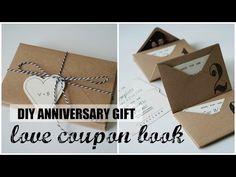 (10) DIY Accordion Envelope Book | Anniversary Love Coupons | Free Printables - YouTube
