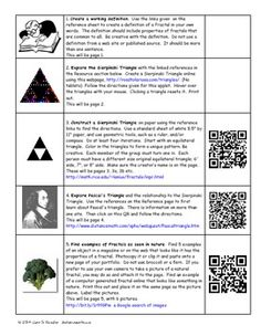 Csi algebra 1 stem project units 7 9 algebra pinterest fractals web quest project fun for algebra geometry includes a qr version fandeluxe Image collections