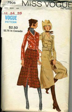 Vintage Miss Vogue 7908 CUT Misses Jacket Midi by RomasMaison, $32.00