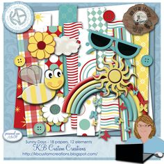 FREE Sunny Days mini kit, part of Scraps-N- Pieces May Blog Hop