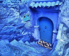 a blue city of Chefchaouen, Morocco, North Africa Color Fight, Moroccan Room, Blue City, Periwinkle Blue, Arabian Nights, Blue Pearl, Blue Aesthetic, North Africa, My Favorite Color