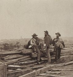 """This was the late Shelby Foote's favorite photograph because it """"shows three Confederate soldiers who were captured at Gettysburg, American Revolutionary War, American Civil War, American History, Art Of Manliness, War Photography, Civil War Photos, Gettysburg, Us History, Civilization"""