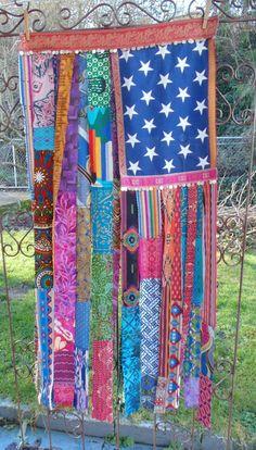 Bohemian American Flag curtain bright by TheSleepyArmadillo