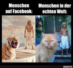 Menschen auf Facebook / in der echten Welt..