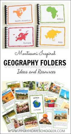Geography folders for kids