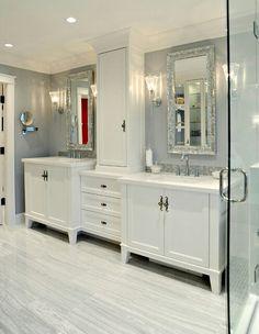 Bathroom with double vanity (houzz.com)