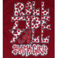 Alabama Crimson Tide Football T-Shirts Bama Girls Roll Tide Yall - Color Crimson in Sports Mem, Cards & Fan Shop, Fan Apparel & Souvenirs, College-NCAA Roll Tide Alabama, Alabama Crimson Tide, Crimson Tide Football, Alabama Football, Alabama Baby, Football Crafts, Football Girls, College Football, Ohio State University