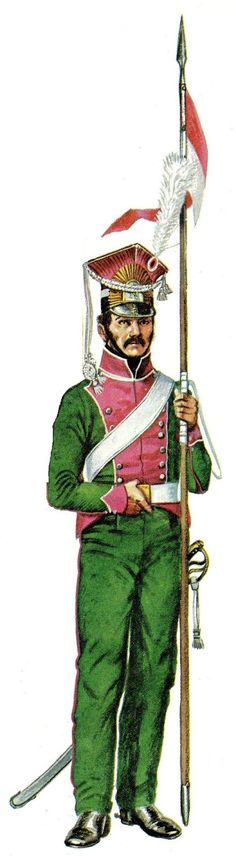 1811 Lancer of Berg, 1811, These German lancers fought well for Napoleon in Spain.