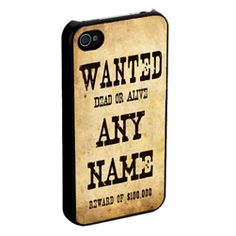 Personalised Wanted iPhone Cover http://www.treathim.com/product/Personalised-Wanted-iPhone-Cover