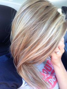 Honey/ash blonde highlights...
