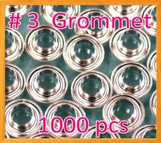 "1000 #3 7/16"" Grommet and Washer Nickel Eyelet Grommets Machine Sign Punch Tool by Display Sign Mart. $18.99. Hole Size = 7/16"" Flange Diameter = 11/16"" Flange Height = 1/4"" Please make sure your current die set is compatible w/ our grommet, we also have a die set for sale only 10.00 extra. Check out my special offer !"