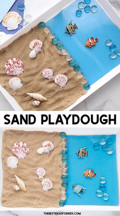 Sand Playdough Recipe for Kids - a fun summer activity for kids!