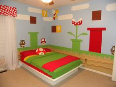 Super mrio room baby stuff pinterest mario bros room and cool kids wall stickers for super mario themed room from nintendo solutioingenieria Gallery