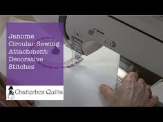 Hand Stitch with the Janome 8900 - YouTube