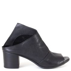 Influenced by the Seventies style, Lemaré Krista is a modernistic mule that is unique to other pairs. This pair is not only contemporary and chic, it is also constructed to be comfortable. Match this with your favorite jeans and a moto leather jacket for those cool nights.   FREE Shipping in the contiguous USA Women's heeled open toe mule Made in Italy Soft leather upper Soft leather upper, suede lining, and cushioned leather footbed Durable leather sole 2 1/4 inch heel Slip-on style...