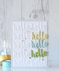Simon Says Stamp PAINTED HELLO Wafer Thin Die sssd111486 Splash of Color at Simon Says STAMP!