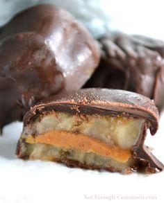 Chocolate covered Frozen Banana Peanut Butter Bites
