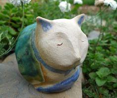 Gartenfiguren - Keramik-Katze - ein Designerstück von BlueBird4U bei DaWanda