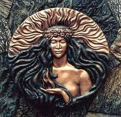 """this is pele as i imagine her ~ """"pele dreaming"""" is the first sculptural image… Hawaiian Legends, Hawaiian Art, Hawaiian Tattoo, Hawaiian Mythology, Hawaiian Goddess, Maiden Mother Crone, Tutu, Polynesian Art, Goddess Tattoo"""