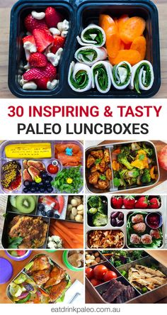 30 Inspiring & Tasty Paleo Lunchboxes