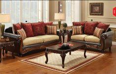Camel and espresso 2 piece living room set, $999