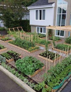 Awesome Raised Garden Bed Ideas For Backyard Landscaping 51 - DIY Garten Ideen Garden Design Plans, Backyard Garden Design, Backyard Layout, Diy Garden, Dream Garden, Backyard Ideas, Small Garden Layout, Small Garden Plans, Stone Backyard