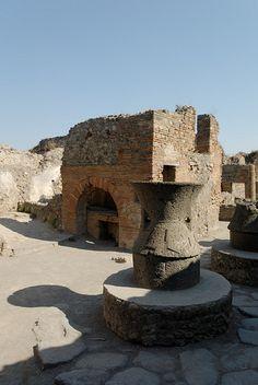 Millstone and bread oven, Pompeii