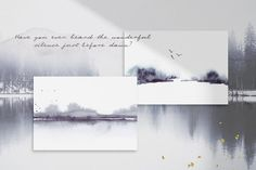 Ad: Abstract Watercolor Landscapes by Greta Ivy on Forest Magic is a set of watercolor landscapes and elements inspired by nature's wondrous scenery. Let the impressions of forested Landscape Artwork, Watercolor Landscape, Abstract Watercolor, Abstract Landscape, Watercolor Paintings, Watercolors, Business Card Mock Up, Paint Splatter, Nature Scenes