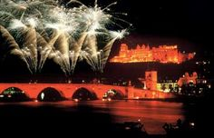 I would love to go to the Heidelberg Castle Illumination in Germany, kind of looks a little eerie, but also beautiful