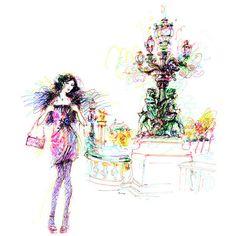 Antoinette Fleur's felt tip pen illustrations. Amazing!
