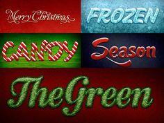 Efectos texto de Navidad en Photoshop descarga gratis | Diginota
