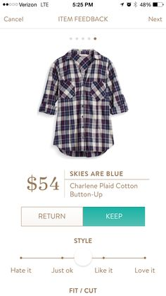 Skies Are Blue Charlene Plaid Button Up August, 2016 Fix