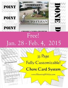 Free Chore Chart system one week only!