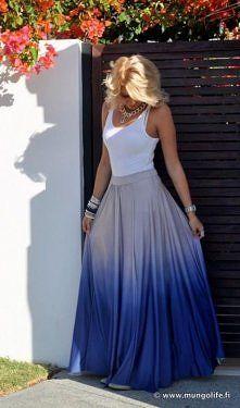 Ombré maxi skirt. i want it!