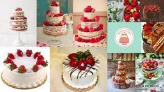 Lindos e delicados, morangos são ótima opção para decorar bolos e cupcakes, especialmente naked cakes. Com são muito sensiveis, não devem ser usados em bolos que ficarão muito tempo expostos. Para isto prefira usar morangos modelados em pasta americana.