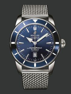 breitling superocean - the watch I got for Adam, love the band