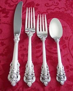 Sale: Wallace Grande Baroque Sterling Silver Place by EDennis (Home & Living, Kitchen & Dining, Dining & Serving, Flatware & Silverware, sterling, silver, flatware, Grande Baroque, Wallace)