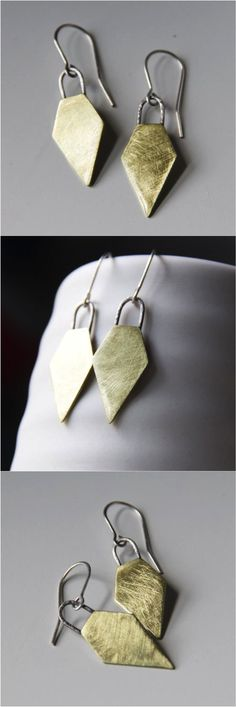 The perfect shield earrings to protect you from a rough day in the asphalt jungle | Made on Hatch.co by independent designers & jewelry makers